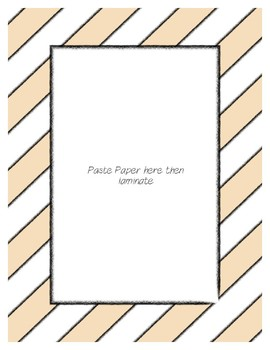 Tan Pastel Poster Frames * Create Your Own Dream Classroom / Daycare *