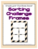 Tan Pastel Sorting Mat Frames * Create Your Own Dream Clas