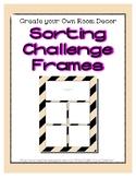 Tan Pastel Sorting Mat Frames * Create Your Own Dream Clas