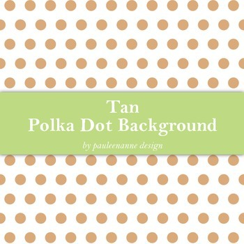 Tan Polka Dot Background