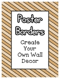 Tan Poster Frames * Create Your Own Dream Classroom / Daycare *