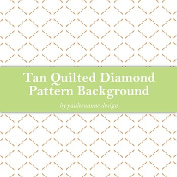 Tan Quilted Diamond Pattern Background