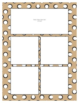Tan Sorting Mat Frames * Create Your Own Dream Classroom / Daycare *