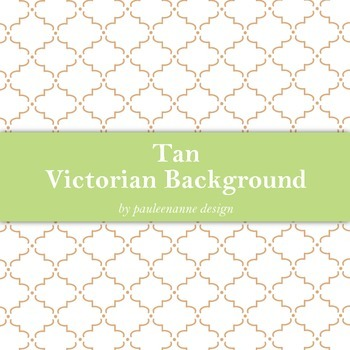 Tan Victorian Pattern Background