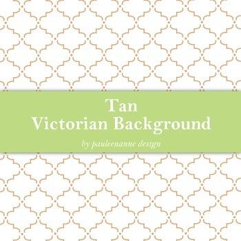 Tan Victorian Pattern Background