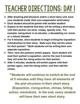Tandem Writing Short Story Activity