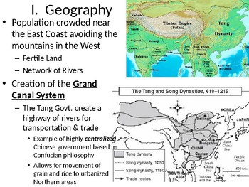 Tang & Song Dynasty of China Powerpoint