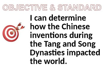 Tang and Song Dynasty Achievements in China Lesson