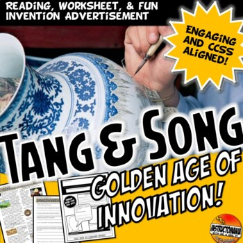 Tang and Song The Golden Age Common Core Literacy & Writing Activity