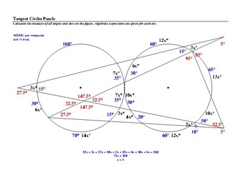 Tangent Circles Puzzle