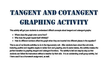 Tangent Cotangent Graph Activity