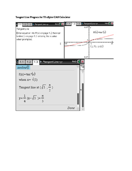 Tangent Line Program for TI nSpire CAS