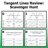 Tangent Lines Review - Scavenger Hunt
