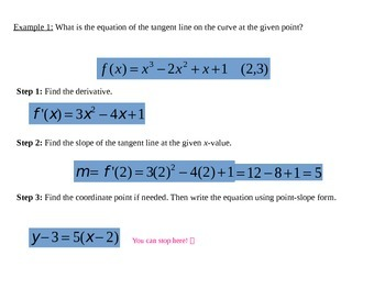 Tangent Lines and Normal Lines