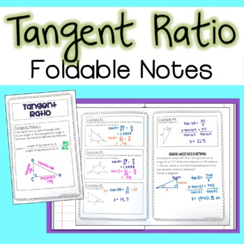 Tangent Ratio - Foldable Notes