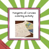 Tangent Segment of Circles Coloring Activity