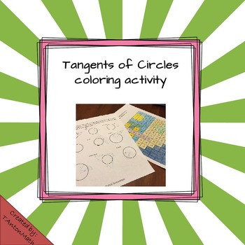 Tangent Segment of Circles Coloring Activity