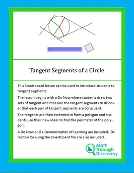 Geometry:  Tangent Segments of a Circle