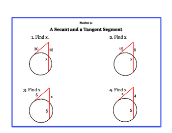 Tangents, Secants and Chord Stations