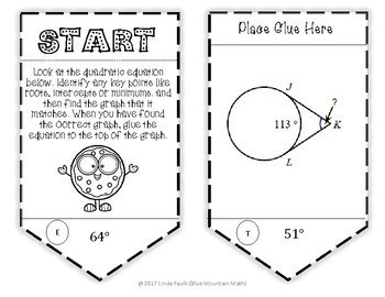 Tangents to a Circle Angle Measures Sequence Activity