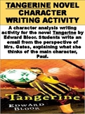 """Tangerine"" Novel Character Writing Activity"