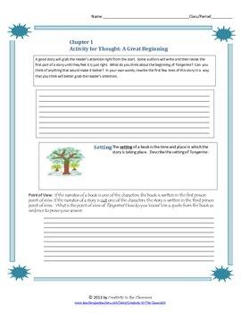 Tangerine Novel Unit Plus Grammar