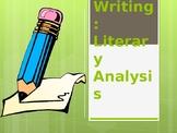 Tangerine Novel--Writing a Literary Analysis