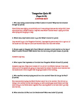 Tangerine Quiz #3 pages (64-92)