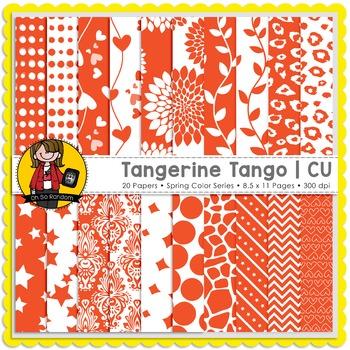 Tangerine Tango Digital Papers {CU}
