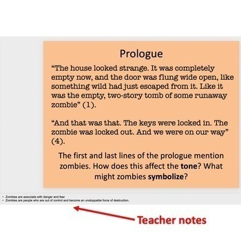 Tangerine by Edward Bloor - Close Reading PowerPoint: Prologue - Ch. 4