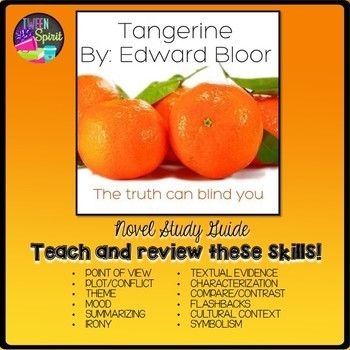 TANGERINE by Edward Bloor Literature Guide