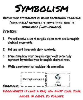 Tangible and Intangible: A Symbolism Activity