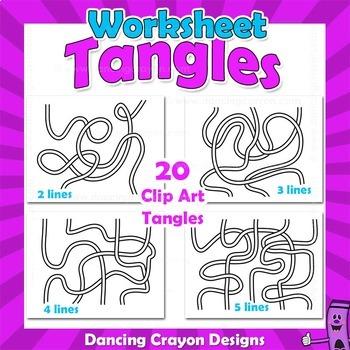 Tangles for Worksheet Design | Maze Clip Art