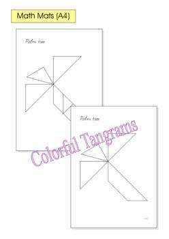 Tangram - 20 Beach / Summer Puzzles - Math Mats