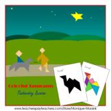 Tangram - 20 Christmas / Nativity Scene Puzzles - Puzzle C