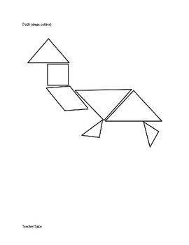 Tangram Activity for Three Pigs One Wolf and Seven Magic Shapes
