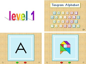 Alphabet Flash Cards - Tangram - Interactive PowerPoint Slide Show