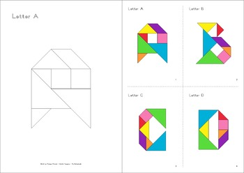 Tangram Quiz - Alphabet Flash Cards - Interactive PowerPoint