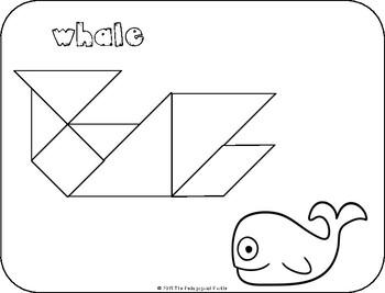 Tangram Animal Puzzles