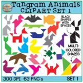 Tangram Animals Clipart | Geometric Shapes