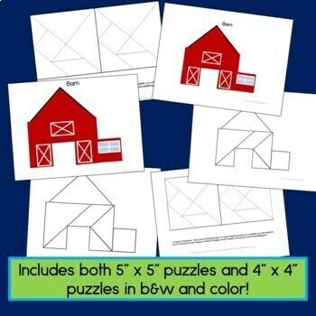 Tangram Bundle with 40 shape puzzles