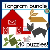 2D shapes center Tangram Bundle