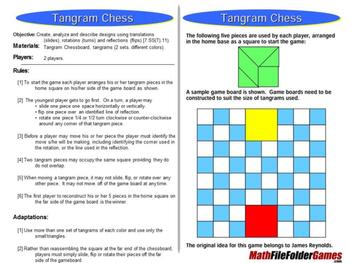 Tangram Chess - Transformation Math Games