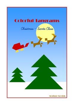 tangram 20 christmas santa claus puzzles puzzle cards math mats