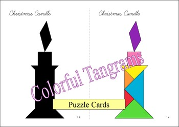 Tangram - 20 Christmas / Santa Claus Puzzles - Puzzle Cards and Pieces