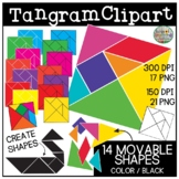 Tangram Clipart | Movable Images for Digital Math Activities
