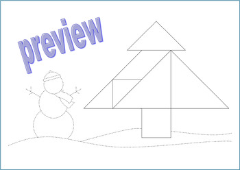 tangram coloring pages - photo#14