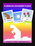 Tangram Coloring Pages - Geometry & Pre-writing & Art - Gr