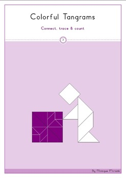 Tangram - Geometry 3: Connect, trace & count / triangles and quadrilaterals