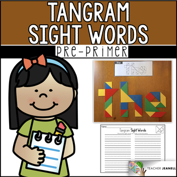 Dolch Pre-Primer Sight Words Tangrams